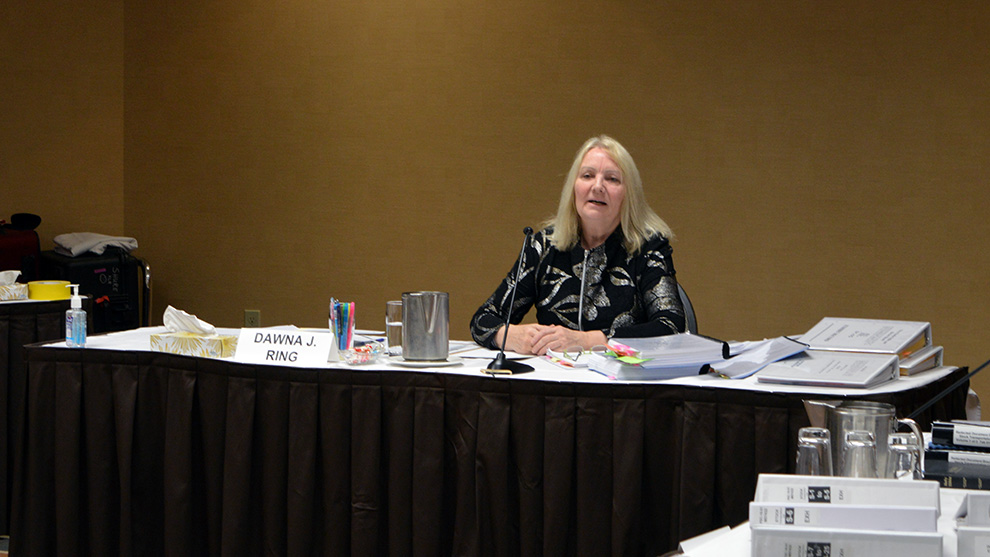 Nova Scotia Utility and Review Board member Dawna Ring presided over the three-day hearing.