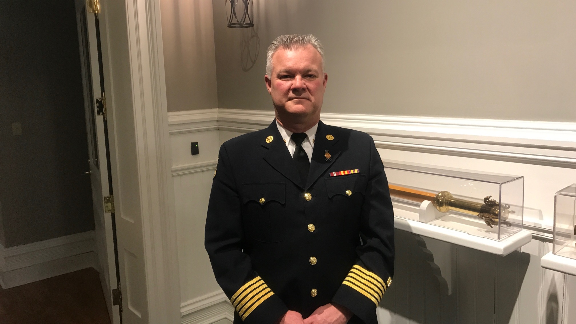 Halifax Regional fire and Emergency Chief Kenneth Stuebing after having his Budget proposal passed on Wednesday