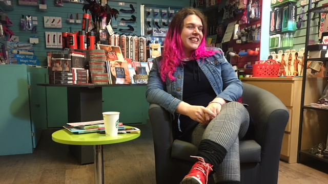 Sophie Labelle stopped in Venus Envy in Halifax on her Canadian book tour.