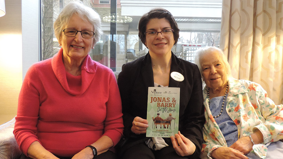 Dolores Nickerson (left), Melanie MacLeod (centre), and Naomi Judah (right) at Parkland in the Gardens.