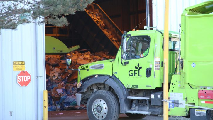 GFL Environmental trucks like this one will soon have side guards installed.