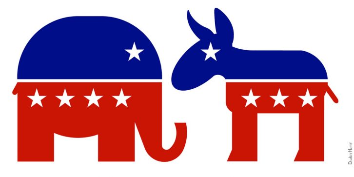 Republicans and Democrats face off Tuesday in the U.S. midterm election.
