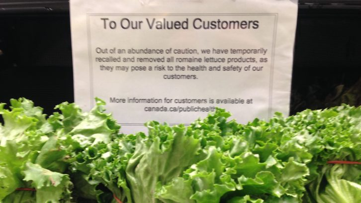 Romaine lettuce is pulled from the shelves of Halifax's grocery stores until further notice