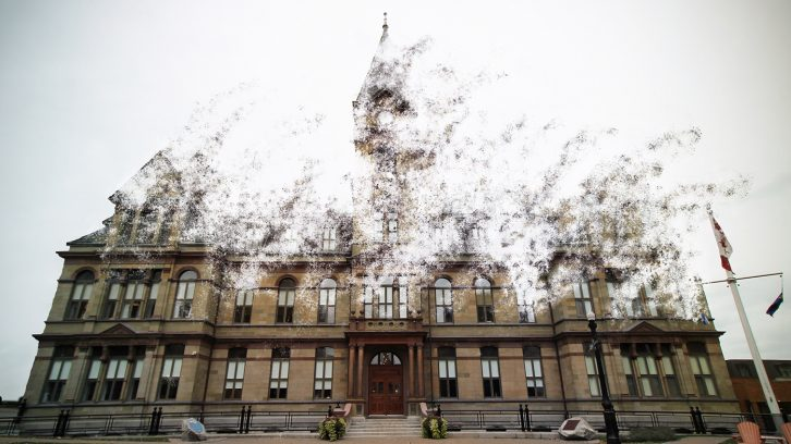 A vanishing Halifax City Hall.