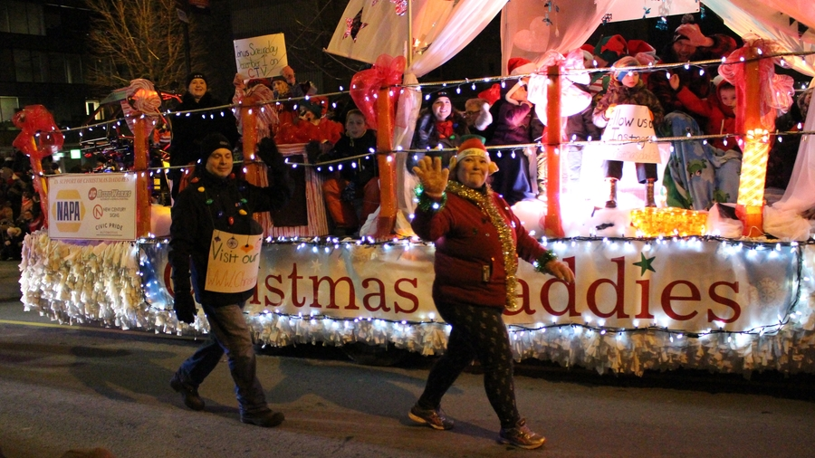 The Parade of Lights was held in Halifax on Saturday.