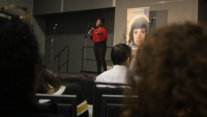 Ariana Joseph kicks off her presentation at the Halifax Convention Centre.