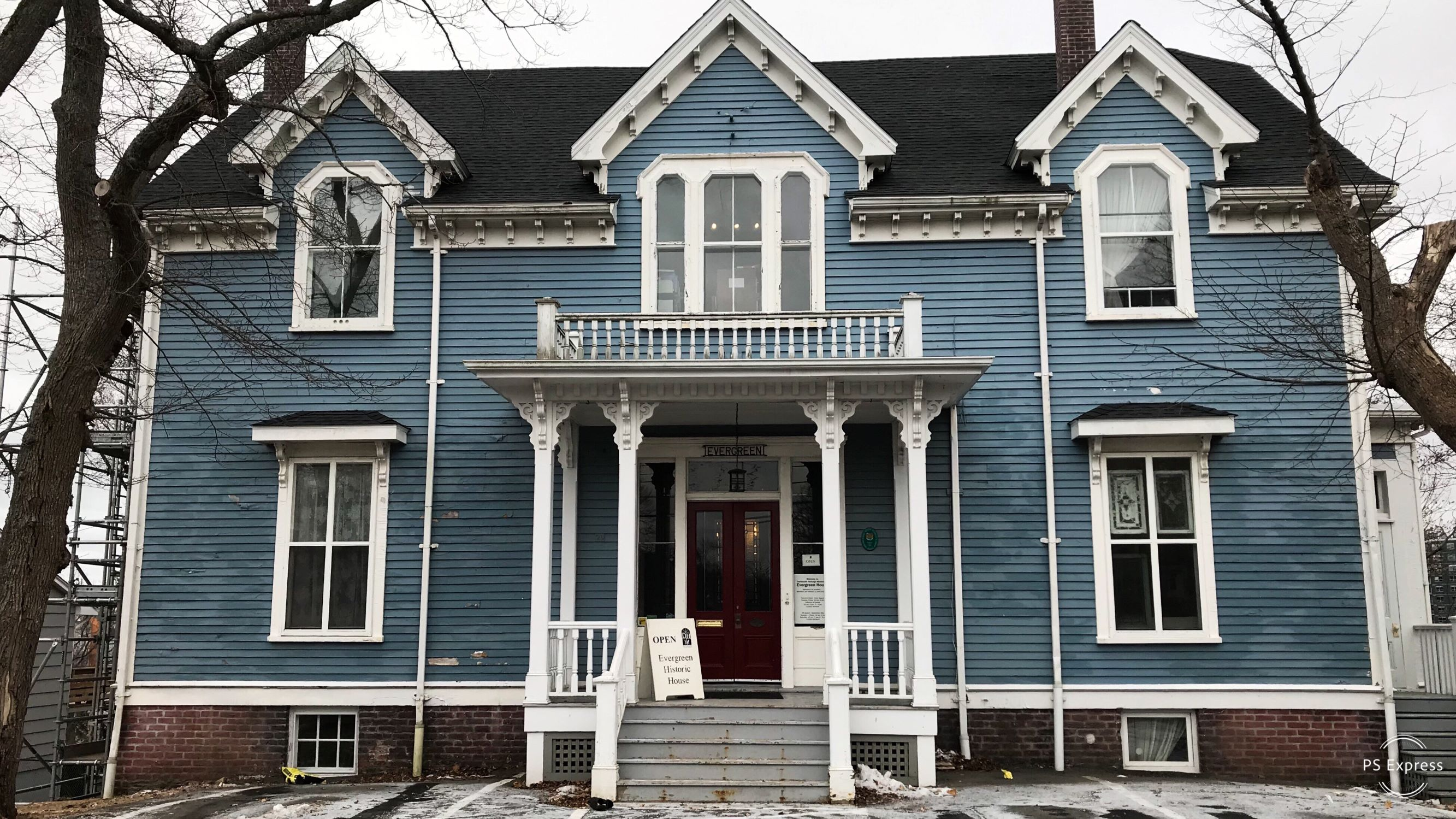 Built in 1867, Evergreen House in Dartmouth was named after the evergreen trees that once lined its driveway.