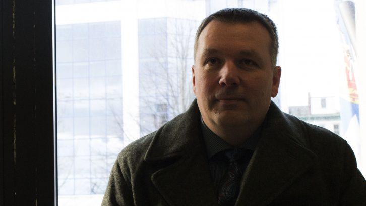 Former RCMP officer Craig Robert Burnett appears at the Nova Scotia Supreme Court in Halifax on Jan. 25.