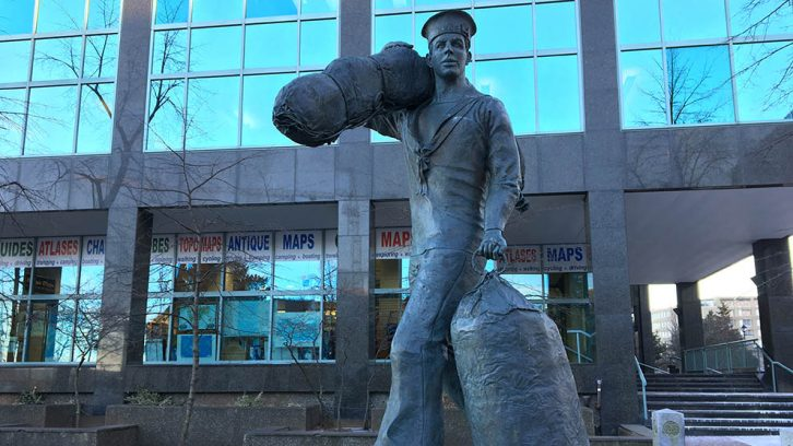 "Halifax regional council voted unanimously on Tuesday to take over ownership of 'The Sailor"" statue, located at 1655 Lower Water Street, near the Maritime Museum of the Atlantic."
