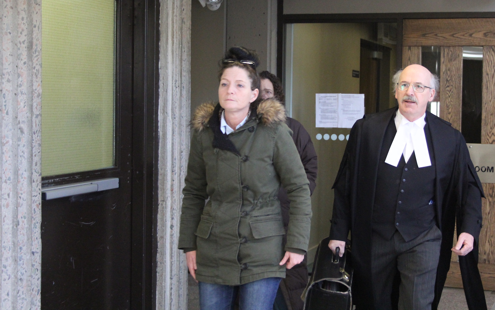 Renee Allison Webber (left) is shown walking into court Thursday.