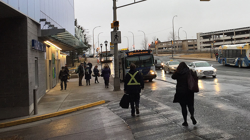 The Scotia Square bus terminal.