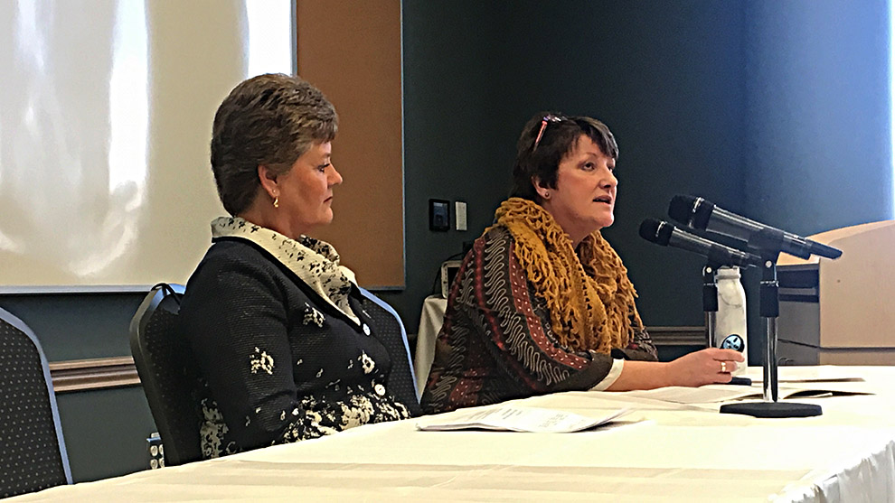 Cheryl Smith and Janice Keefe present their findings on Nova Scotia's long-term care system.