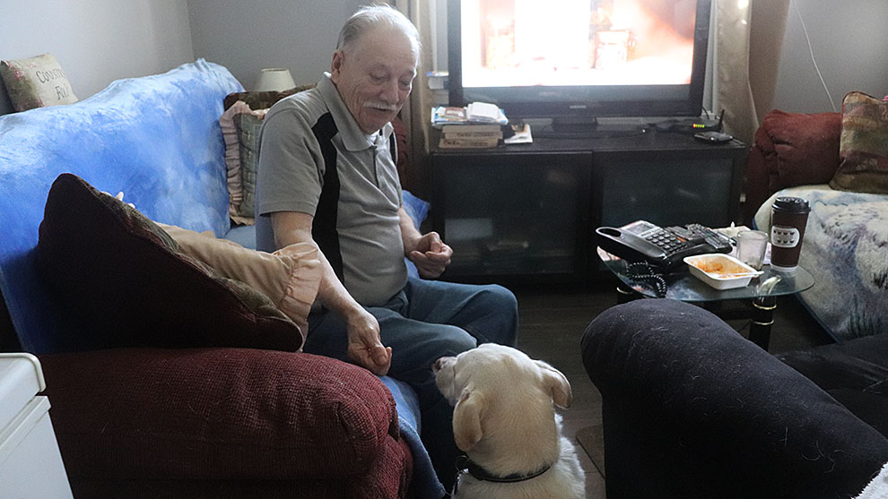 Gordon Wiswell and his dog Fido are one of many pairs that use Elderdog Canada's services.