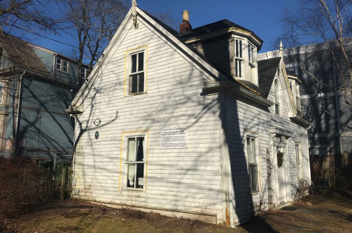 The house at 1029 Tower Rd. was designated a heritage property in 1992.