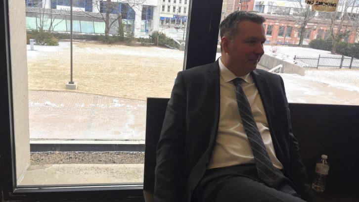 Craig Robert Burnett's first interview after his arrest was shown in court on Friday.