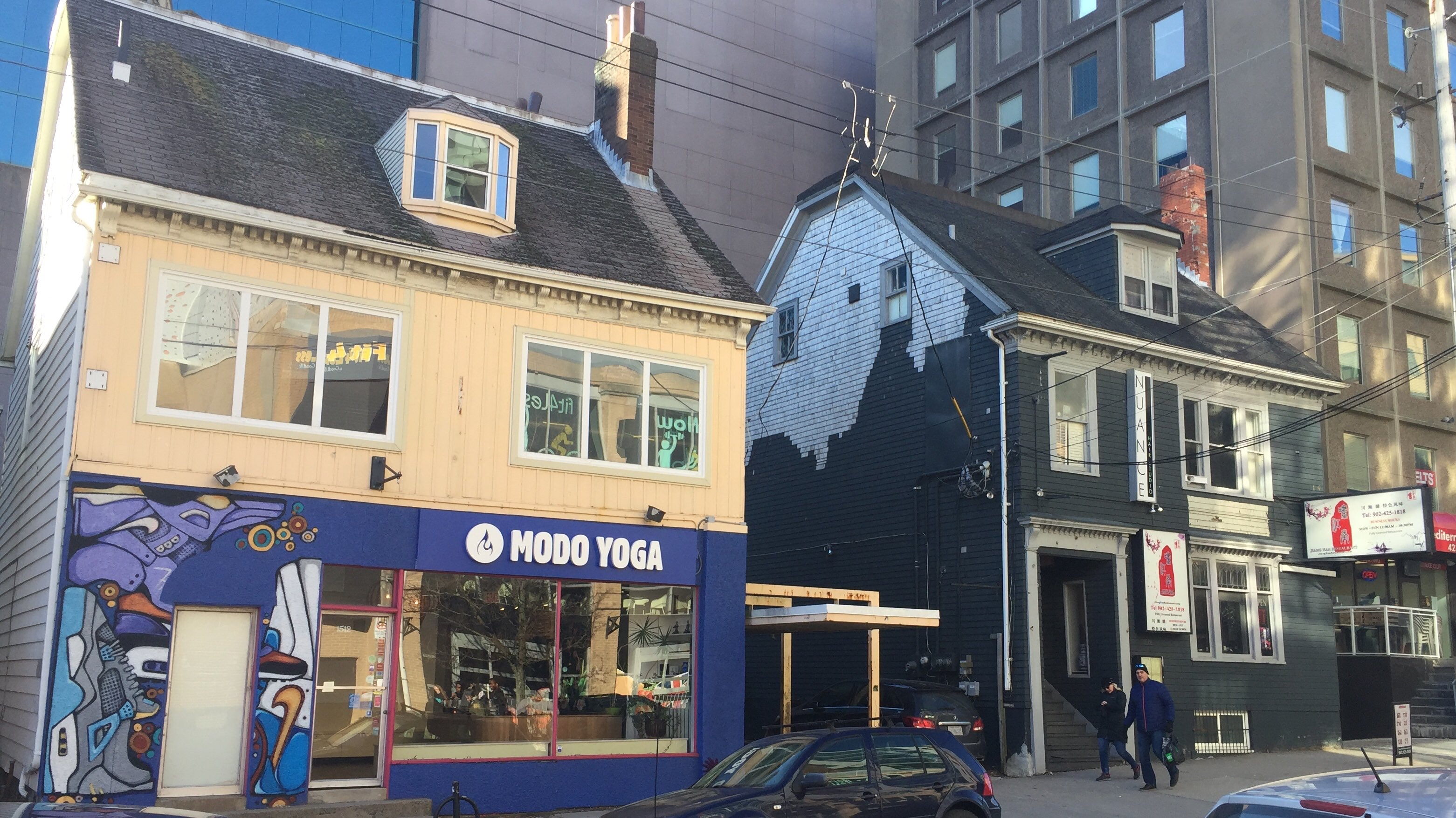 Potential heritage buildings on Dresden Row in downtown Halifax.