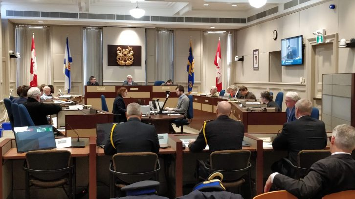 Regional council met Friday to debate the revised police budget.
