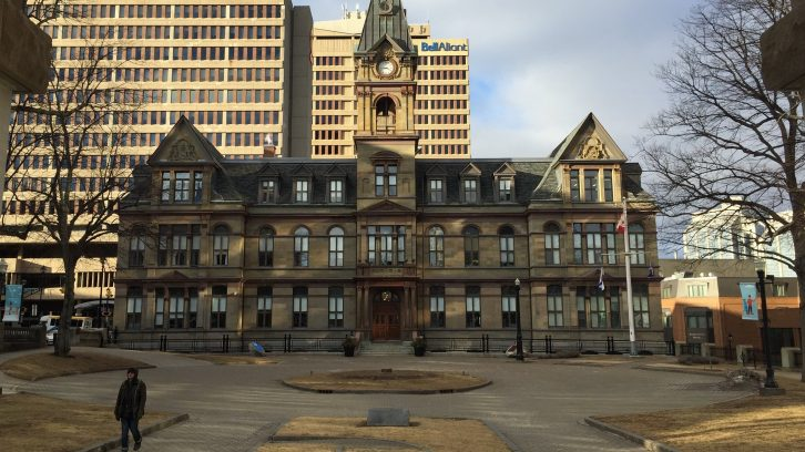 City Hall in downtown Halifax, where the council meeting was held Tuesday night.