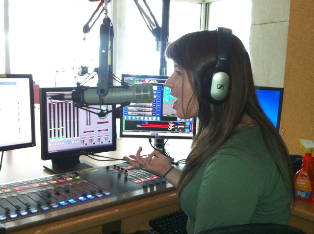 Broadcasting student Amanda Hawkes on the NSCC campus.