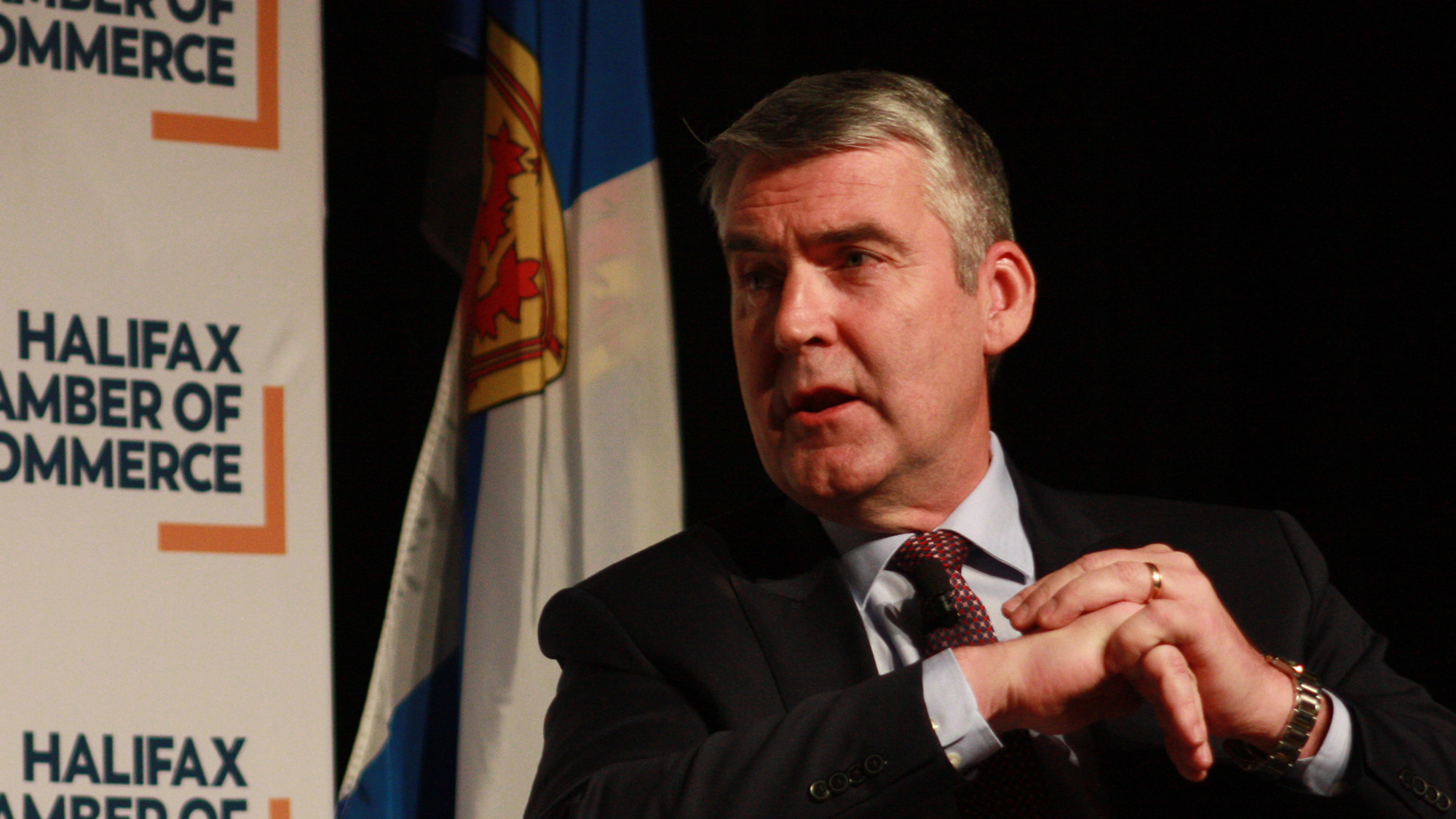 Premier Stephen McNeil speaks at his annual State of Nova Scotia address. This year's event was held at the Halifax Convention Centre.