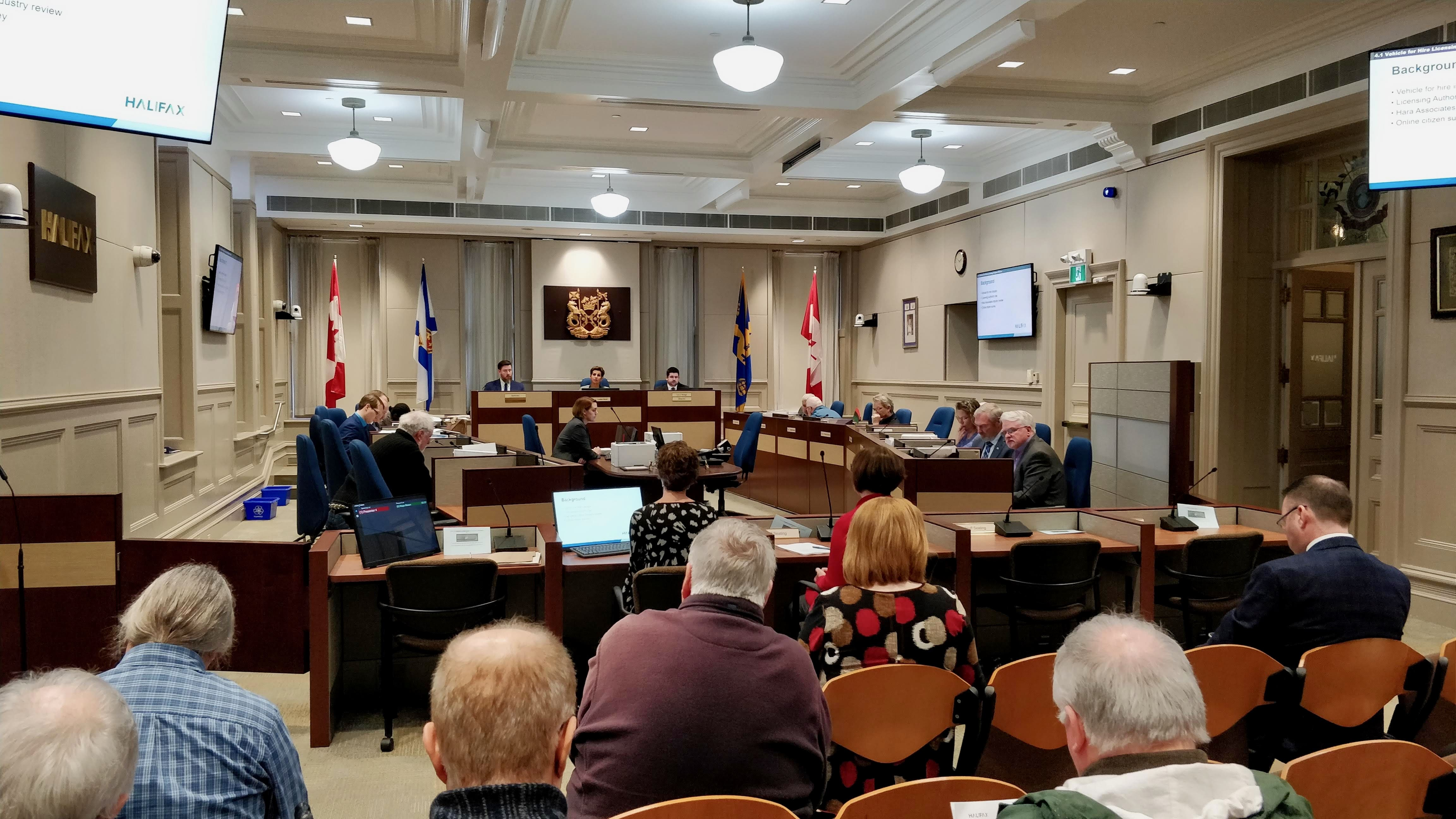 Tuesday's transportation standing committee discussed the taxi and limousine bylaw.