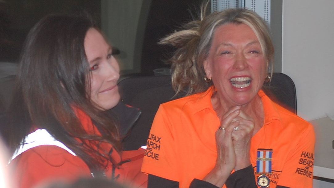 Leanne Rooke and Deborah Stover express their delight at the 100 Women Who Care  Halifax event in March.