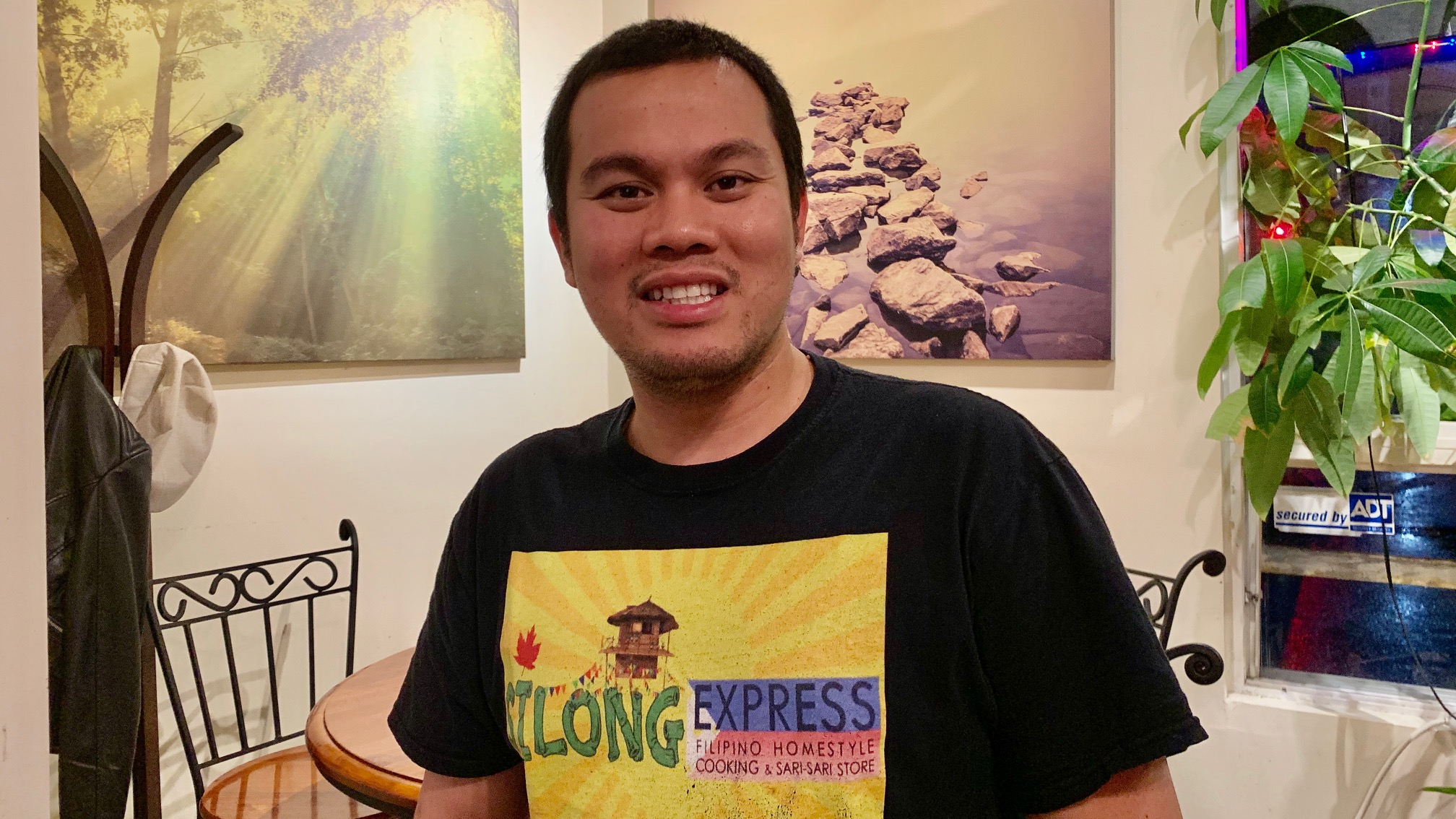 Erick De Los Reyes owns a Filipino restaurant in Fairview which caters to the growing Filipino community.