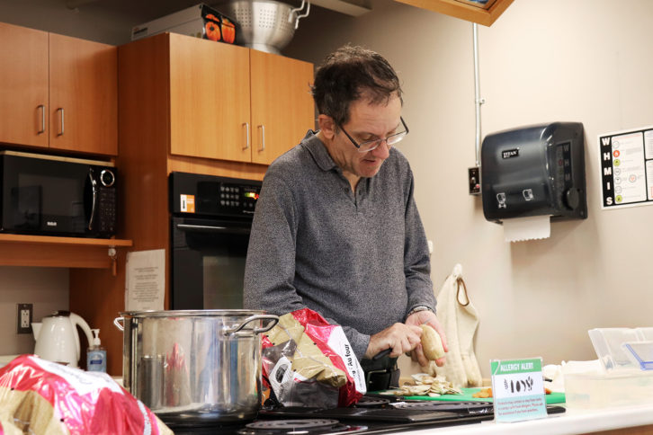 Daryl Mombourquette attended the cooking course for his partner.