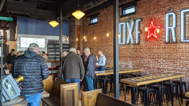 Garrison's new taproom features decor inspired by the Oxford Theatre and cinema.