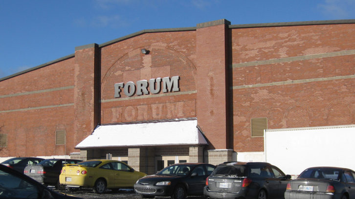 The front entrance to the Halifax Forum.
