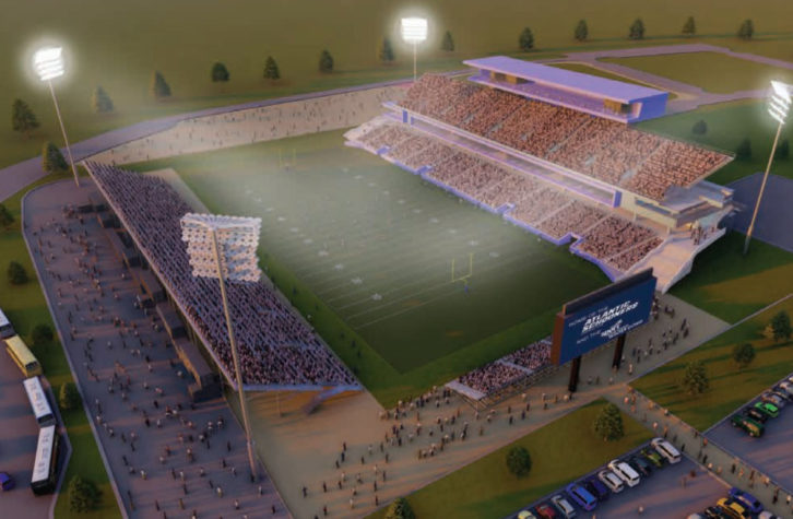 Proposed design for Schooners stadium.