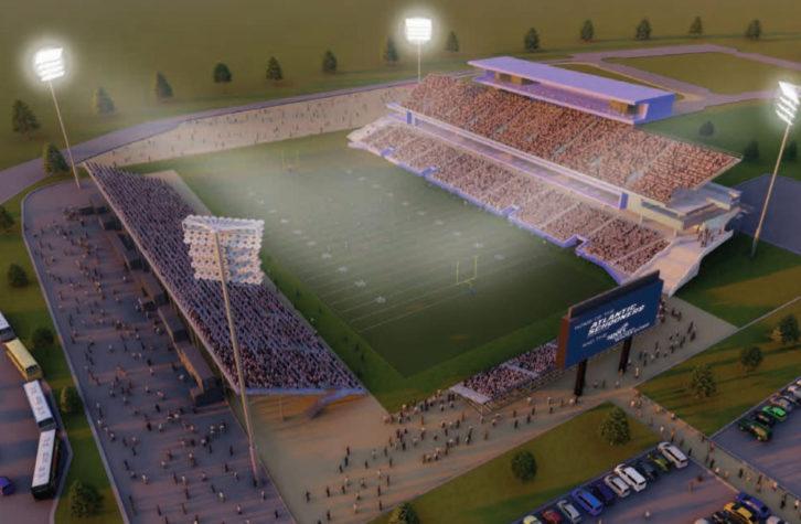 Proposed design for Schooners stadium.