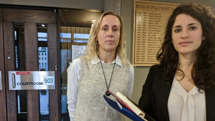 Carrie Low (left) and Jessica Rose are challenging the six-month time period to file a complaint against Halifax police.