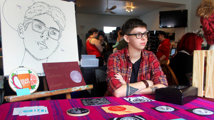 Robbie Clayton attended the Queer Holiday Market on Saturday.