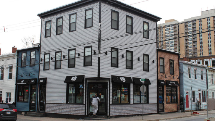 This heritage building, located at the corner of Birmingham and Clyde streets, makes use of insulation to cut down on fuel.