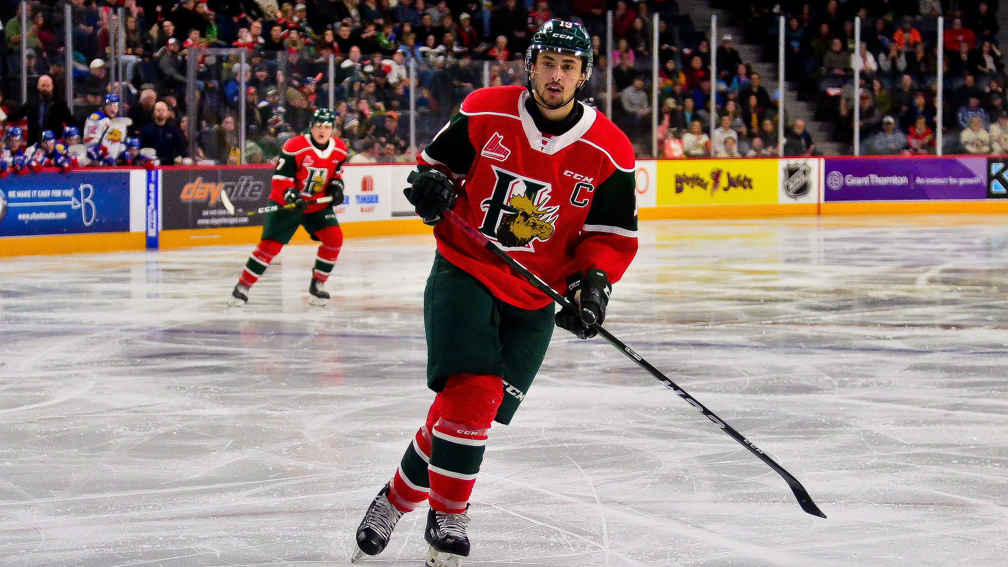 Benoit-Olivier Groulx is one of three Halifax Mooseheads invited to the World Junior tryout in Oakville.