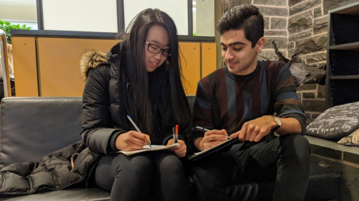 Kate He (left) and Faris Kapra are preparing to compete at the World University Debate Championships in Thailand later this month.