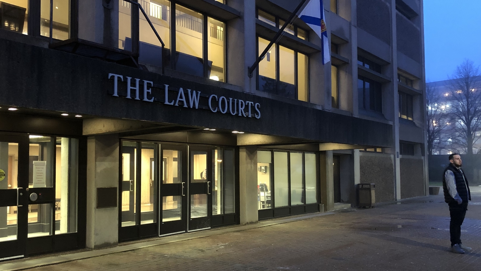 The outside of the Law Courts, in Halifax, where Sparks and Ritch are on trial.