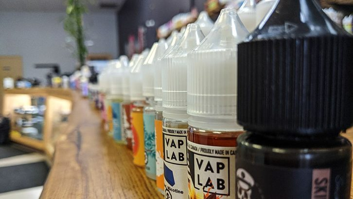 Vape stores carry hundreds of different flavours for customers to purchase. When the provincial legislation goes into effect, the only ones available will be tobacco flavoured, or non-flavoured.