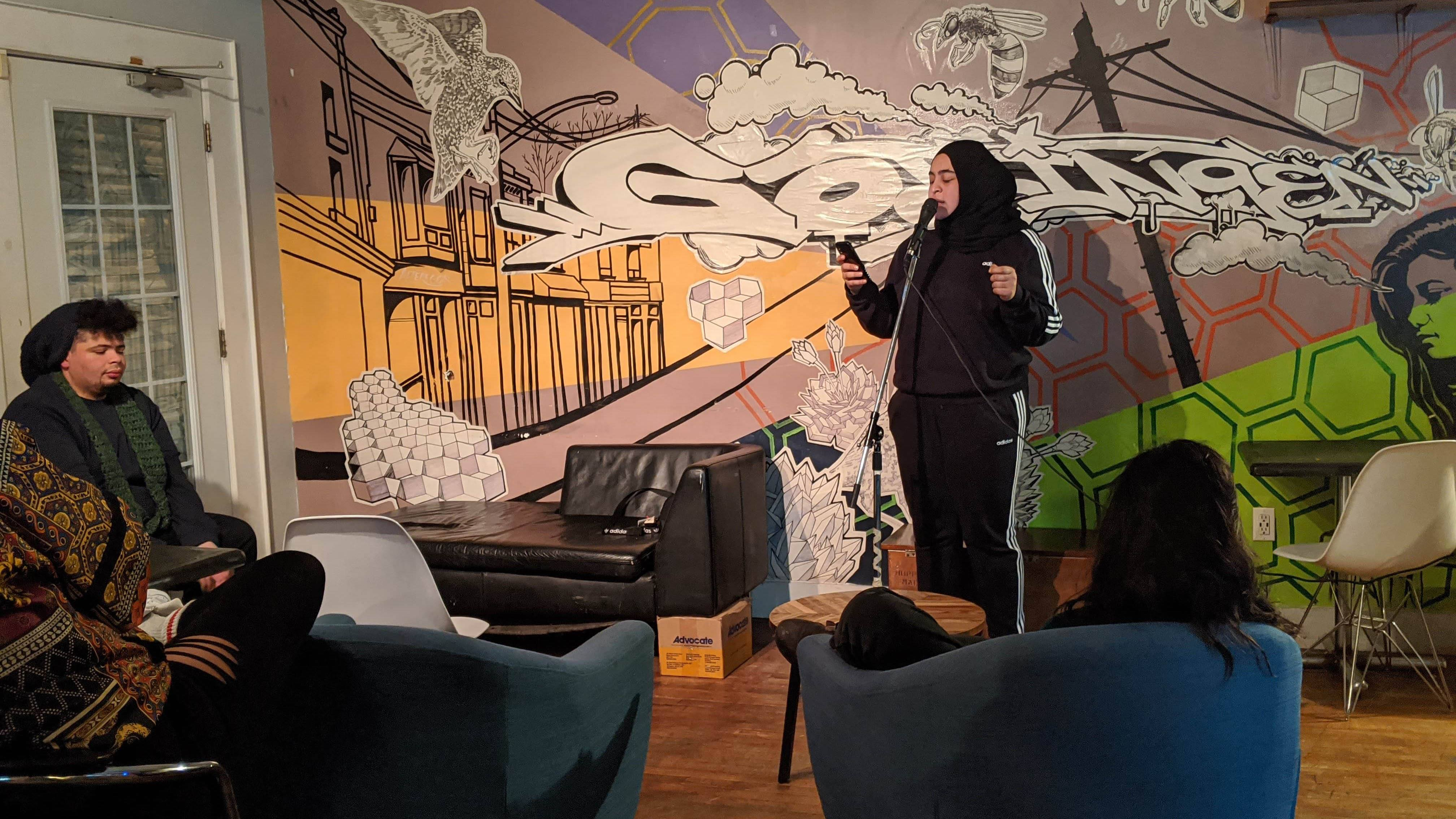 Masuma Khan performs at the BIPOC 2020 Vision event she co-organized with Andre Fenton.