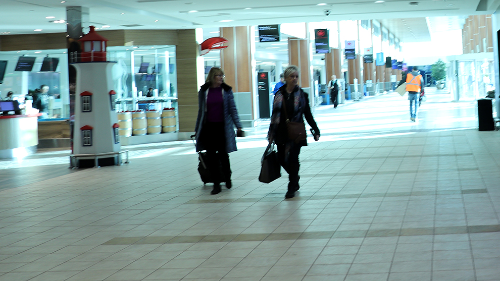Halifax Stanfield International Airport ahead of influx of passengers bound for St. John's.