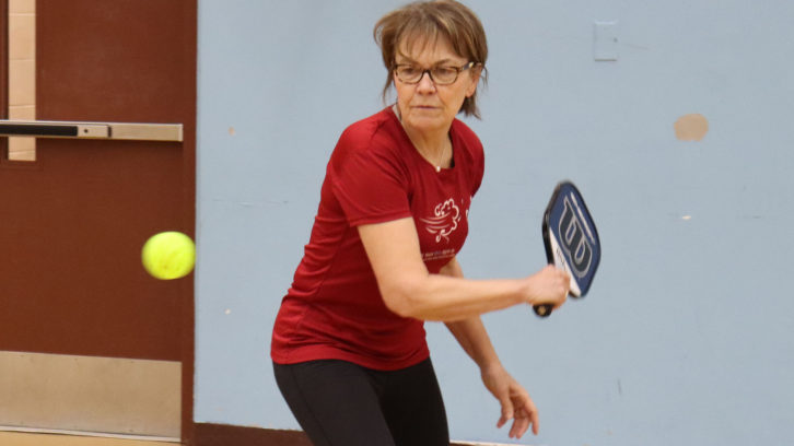 Anne Cogdon playing pickleball