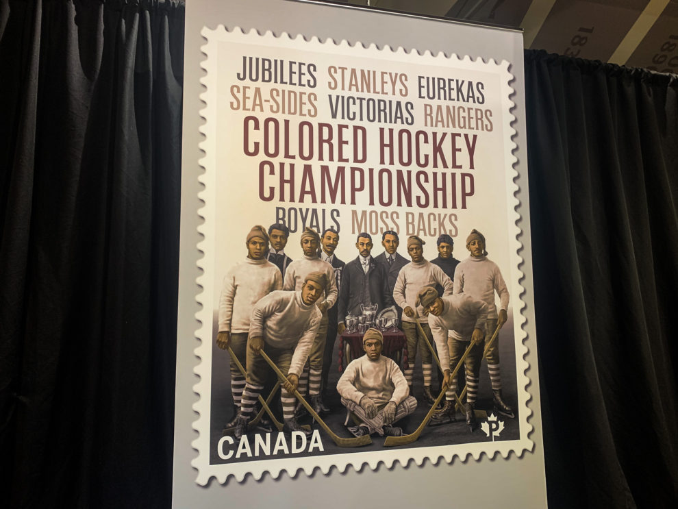 The new stamp unveiled by Canada Post.