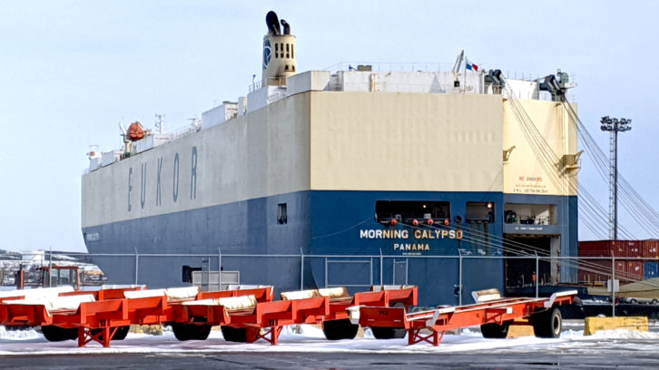 The vehicle carrier ship called Morning Calypso could be one vessel that is monitored by OCIANA.