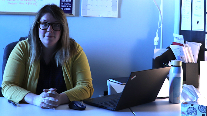 Meghan Hansford, housing support manager at Adsum for Women and Children, is worried about the impact of low vacancy rates on low-income families.