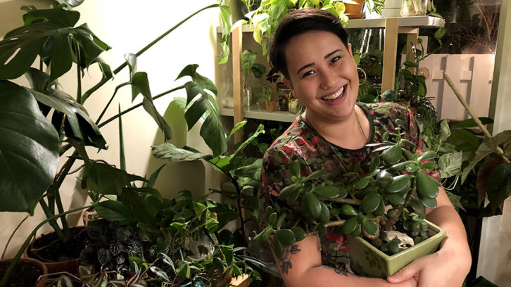 Jennifer Lee, owner of the House Full of Plants Instagram account.