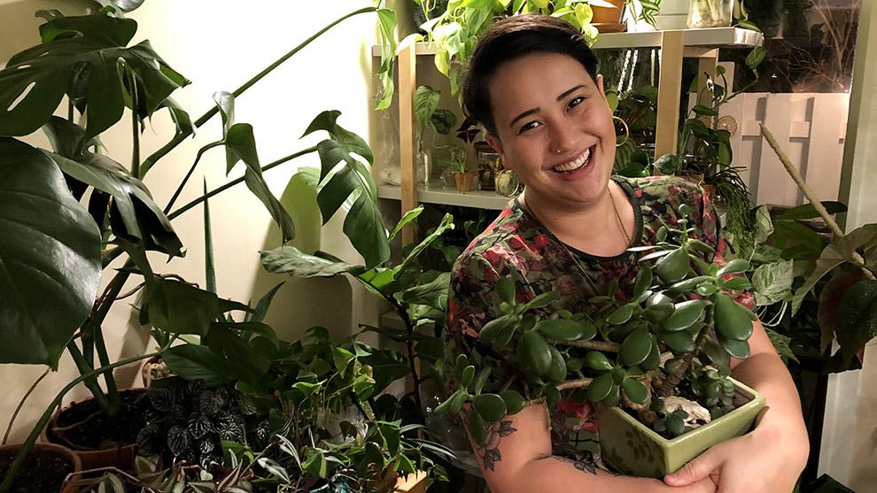 Jennifer Lee, owner of the House Full of Plants Instagram account.