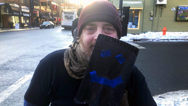 Paul Vienneau and his smiling shovel.
