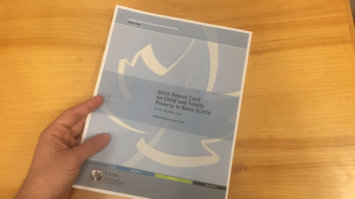 The 2019 Report Card on Child and Family Poverty in Nova Scotia.