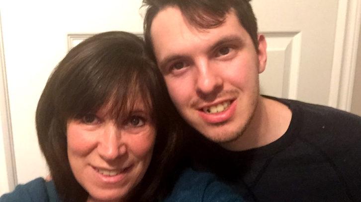 Sharon Yeadon and her son, Christopher Yeadon.
